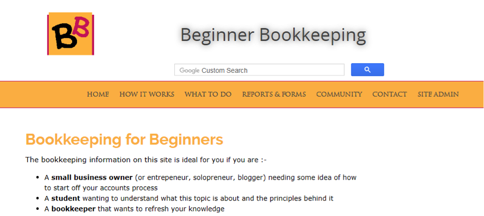 Beginner Bookkeeping