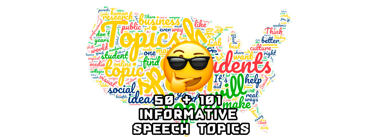 List of good informative speech topics for college