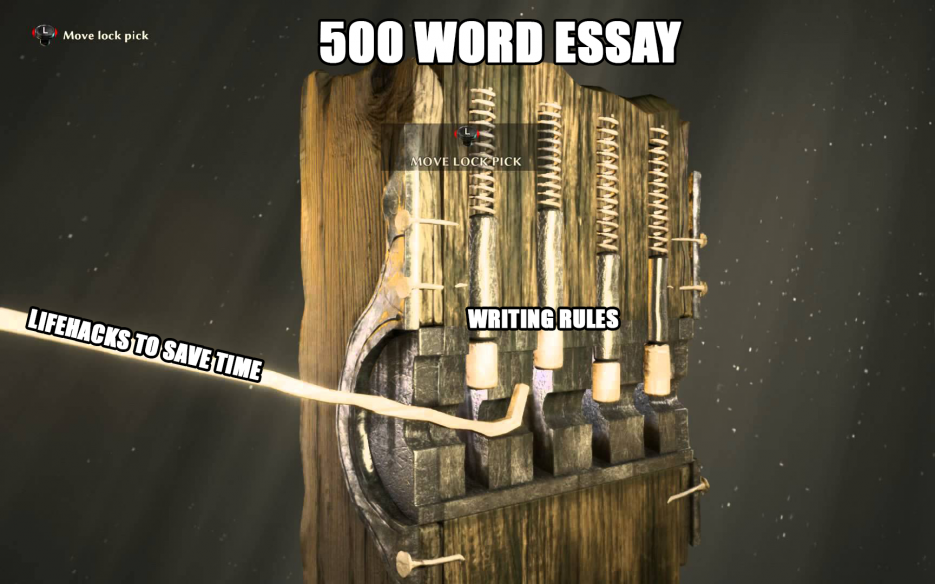 500 word essay - lifehacks to save time