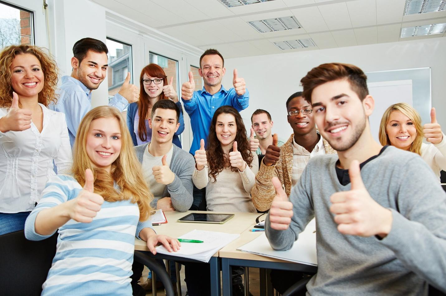 Students and teachers: Thumbs up