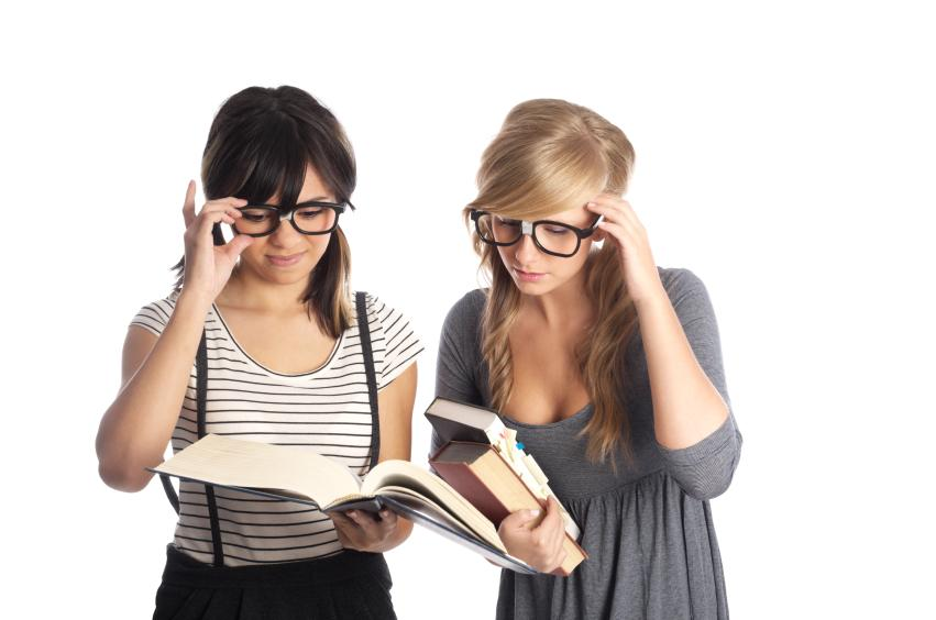 Two Geeky Students Finding Top Geek Websites by Subject