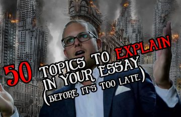 Explanatory essay topics may be challenging