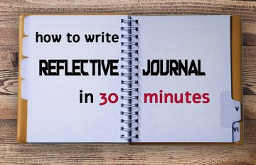 how to write a reflective journal